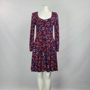 HD In Paris Blue Flower Dress Size M